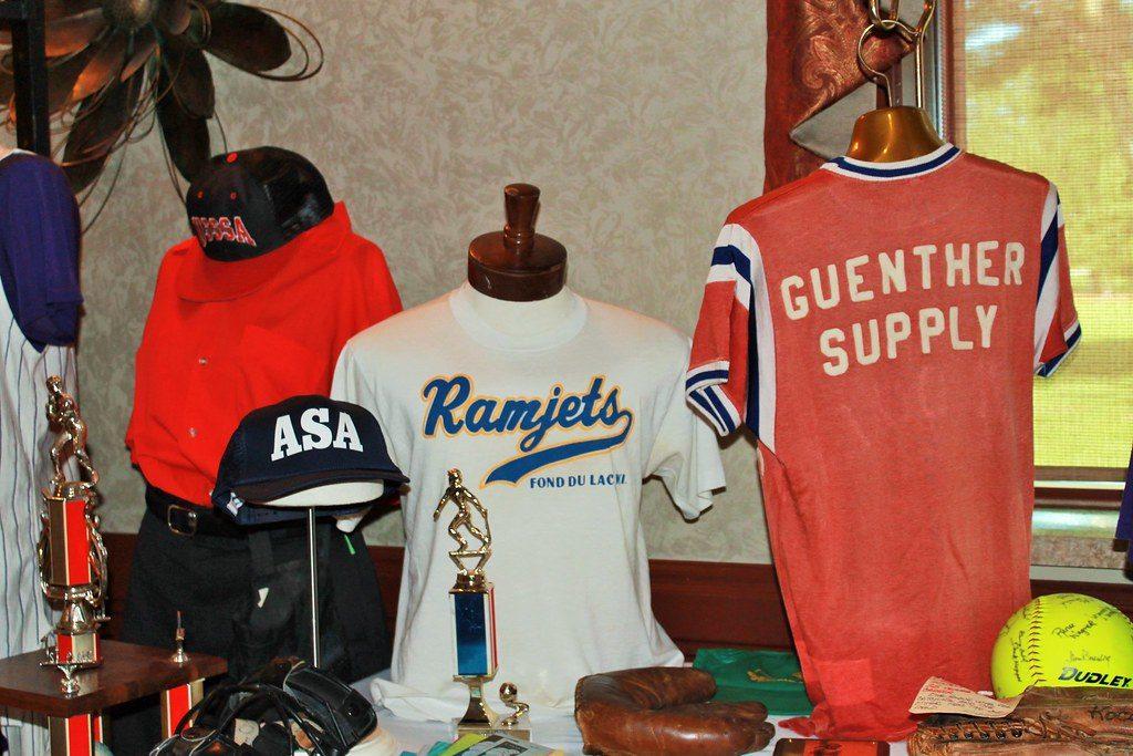 Memorabilia at Fond du Lac Softball Hall of Fame Banquet 2019.