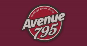 Avenue 795 logo with burgundy back. Name change banner.