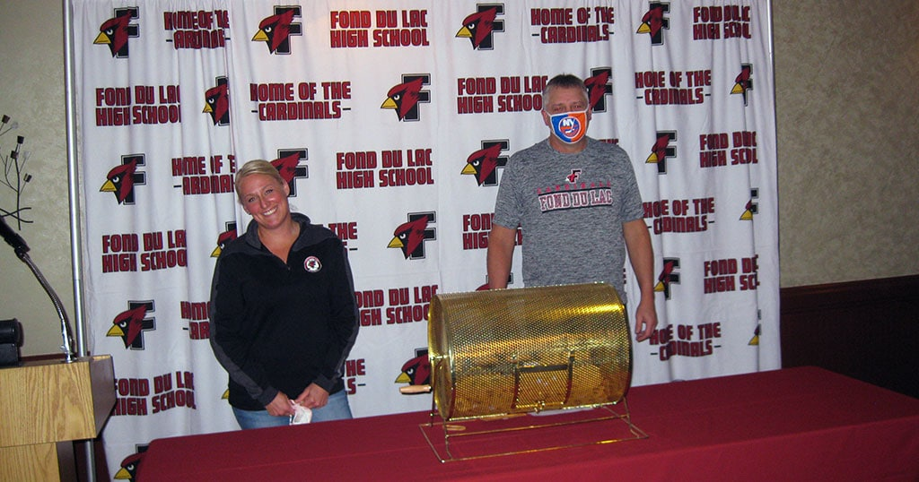 Fond du Lac Cardinals Hockey Boosters event on 10/22/20.
