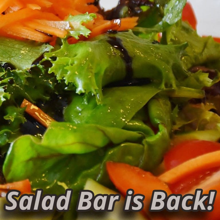 Friday salad bar is back (mobile view)!